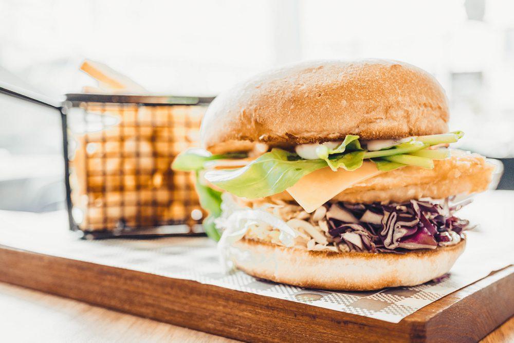 Vegetarische visburger!