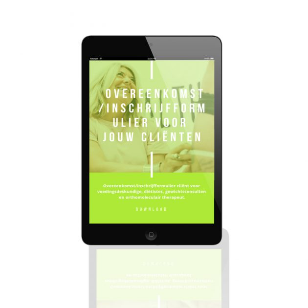 Inschrijfformulier en overeenkomst clienten download