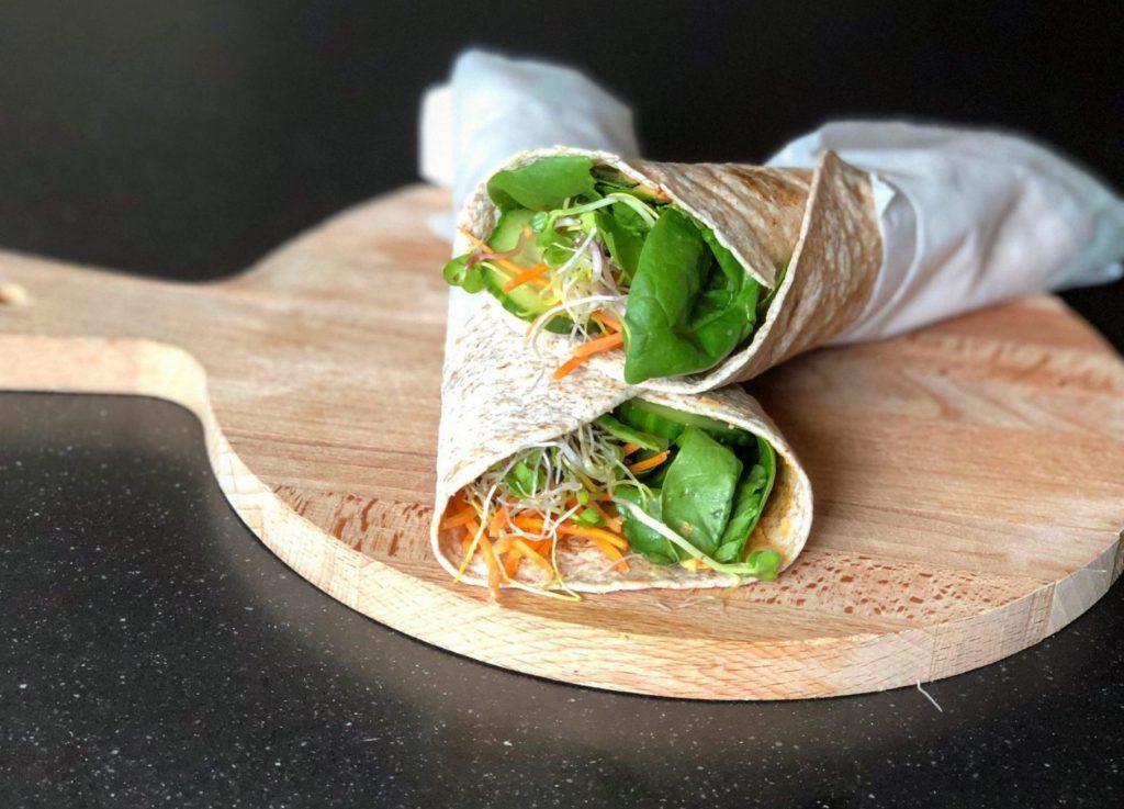 Supersnelle spicy groentewrap