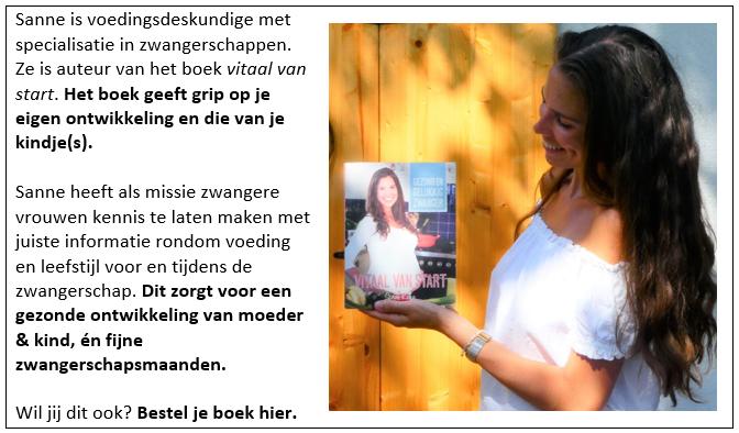 Vitaal van start boek en schrijfster Sanne Knijn