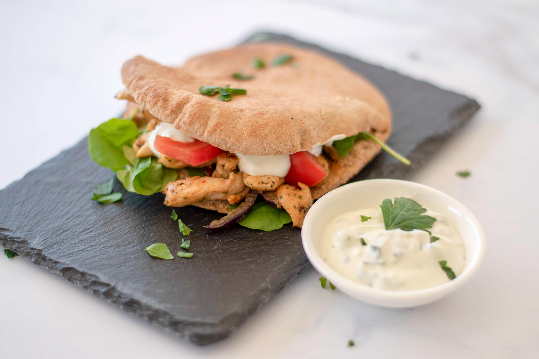 Healthy variant van Pita met kip Gyros