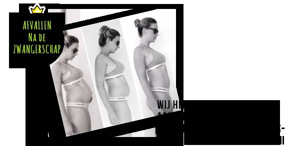 afvallen na bevalling of keizersnee